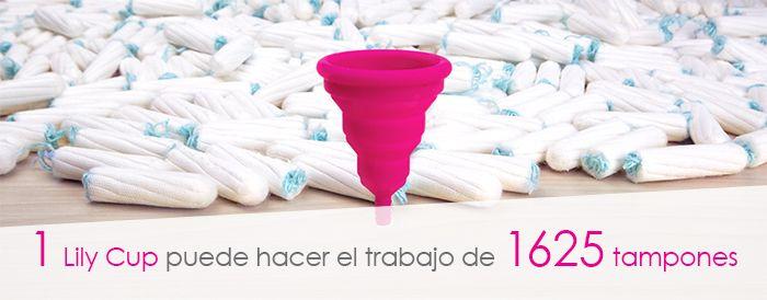 Una copa menstrual hace el mismo trabajo que 1625 tampones.
