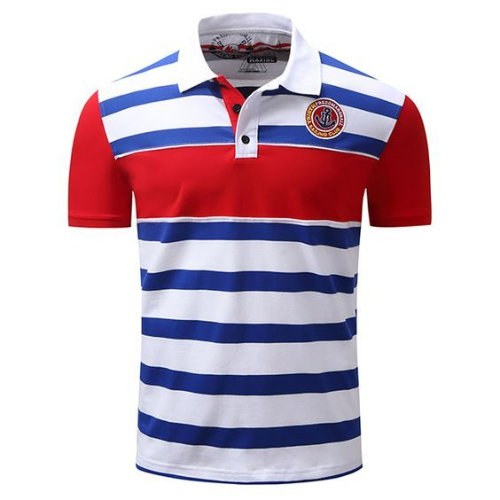 af6099aa08 Spring Summer Polo Shirt Stripe Printing Short Sleeve Casual Business Tops  for Men - Newchic Mobile.