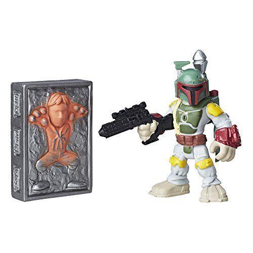 Playskool Heroes Galactic Heroes Boba Fett and Han Solo in Carbonite. #Playskool #Heroes #Galactic #Boba #Fett #Solo #Carbonite