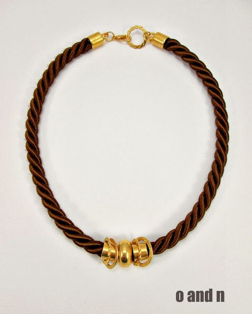o & n craft supplies: An elegant rope necklace in just minutes