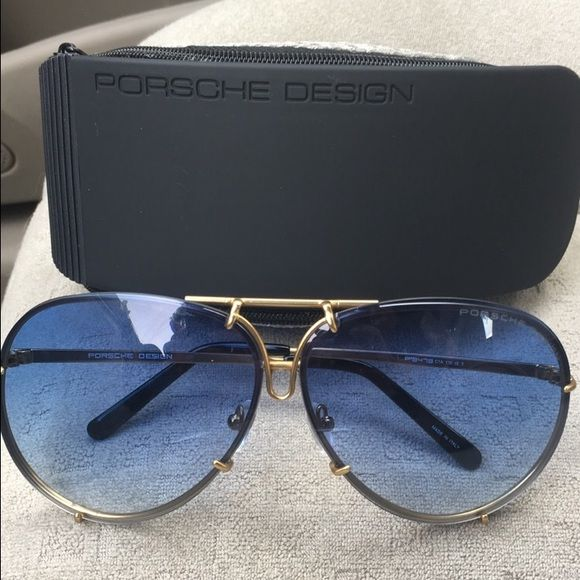 7447b25f0a15 Porsche design sunglasses Brand new literally just got them. I like the  smaller ones better. These come with EXTRA silver lenses too!!
