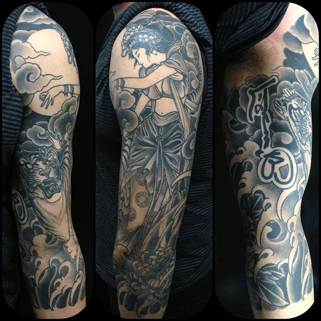 41 best japanese art images on pinterest waves japan for Black and grey tattoo artists near me