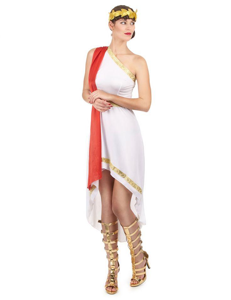 Este disfraz de romana para mujer es perfecto para una representación teatral.