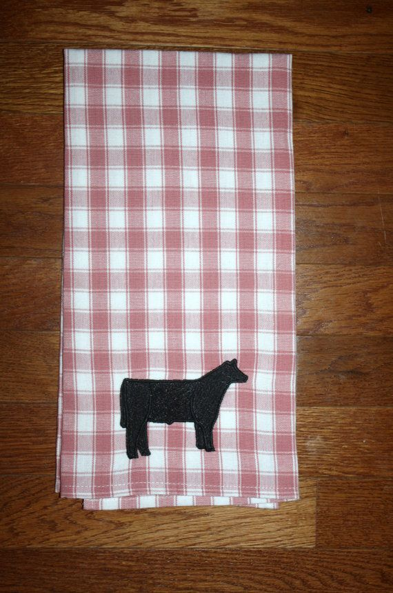 Hey, I found this really awesome Etsy listing at https://www.etsy.com/listing/205351377/cattle-cow-calf-towel-ranch-farm-house