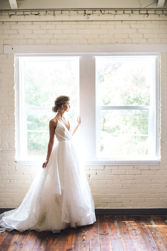 Romantic Industrial Bridal Shoot with a Hayley Paige Wedding Dress