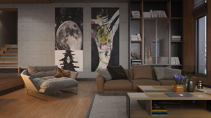 Quadri per soggiorno moderno 25