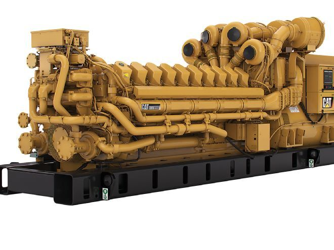 The Caterpillar C175-20 diesel engine stands more than 8 feet tall and is capable of cranking out 16,474 lb-ft of torque.