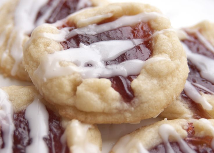 These are sooo good! I used seedless jam and cream instead of water for the icing.