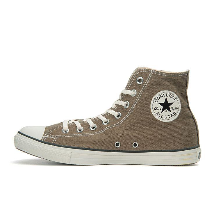 ALL STAR LP WASHED-CL HI(3 (22.0cm) オリーブ): シューズ|コンバース公式通販 | CONVERSE ONLINE SHOP