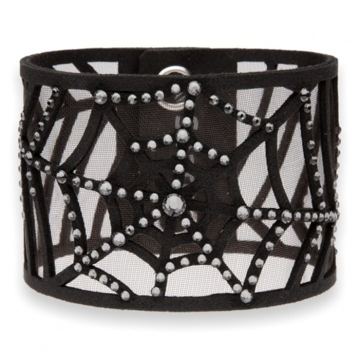 Замшевый браслет Spark Spiders Web со Swarovski модели BWEB1CZSN. Цена: 1813 грн.  #braceletsswarovski #swarovski #сваровски #замшевыйбраслет #сваровски #prizma #Одесса