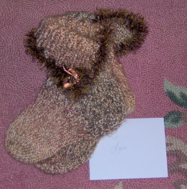 Slippers I knit for my good friend Lynn.