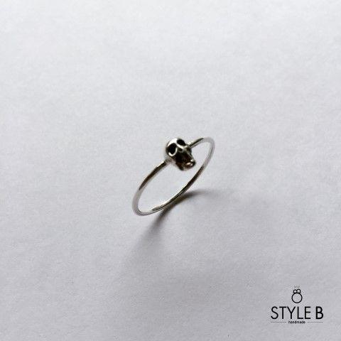 [Style B] 해골 은반지 / skull silver ring : 스타일비