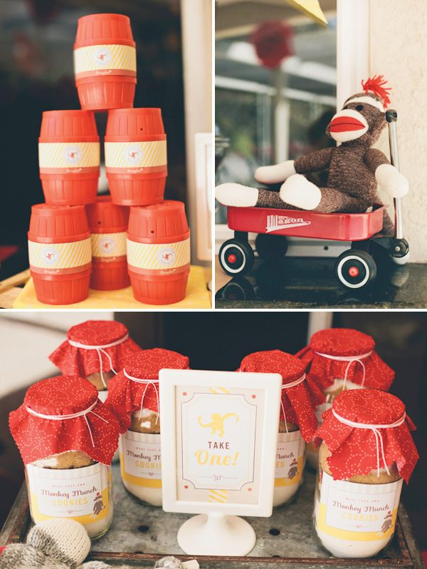 Take home: Barrel of Monkey  Red Wagon to serve water  Chocolate milk in bottles (yohoo?)  – Barrel Rolls:  A slice of bread flattened with a rolling pin, topped with a slice of deli turkey and a cheese stick rolled up inside and held with a toothpick.