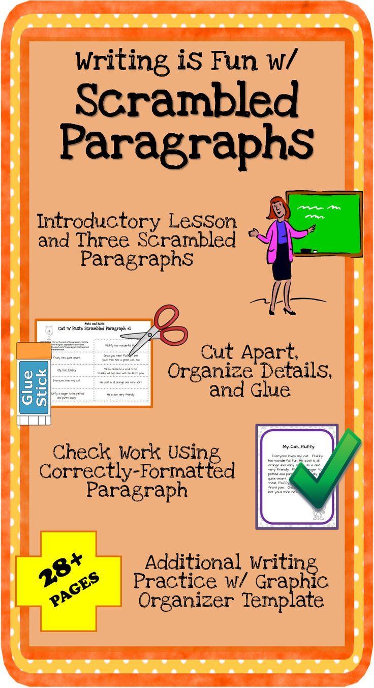 worksheet Scrambled Paragraphs Worksheets image result for paragraph writing ideas pinterest