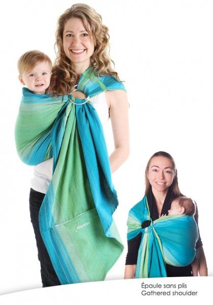 Chimparoo Woven Ring Sling (Pleated Shoulder) - Lime