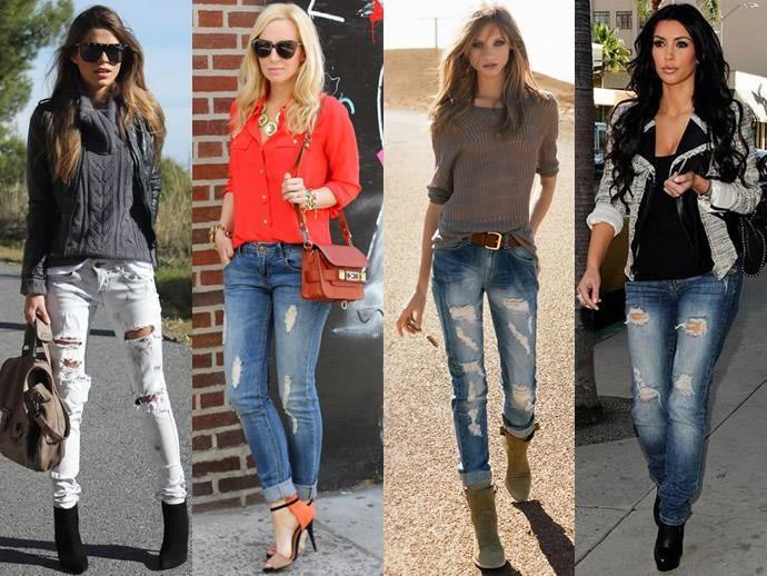 С чем носить джинсы если бедра большие