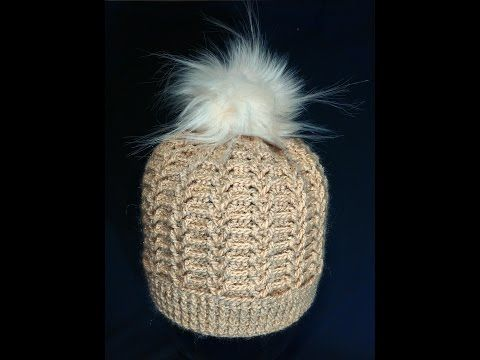 Шапка женская,крючком. Часть 2. a cap knitted crochet. Part 2. - YouTube