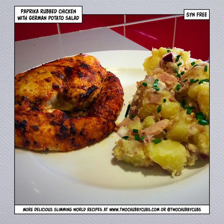 This Syn Free German Potato Salad And Paprika Chicken Is