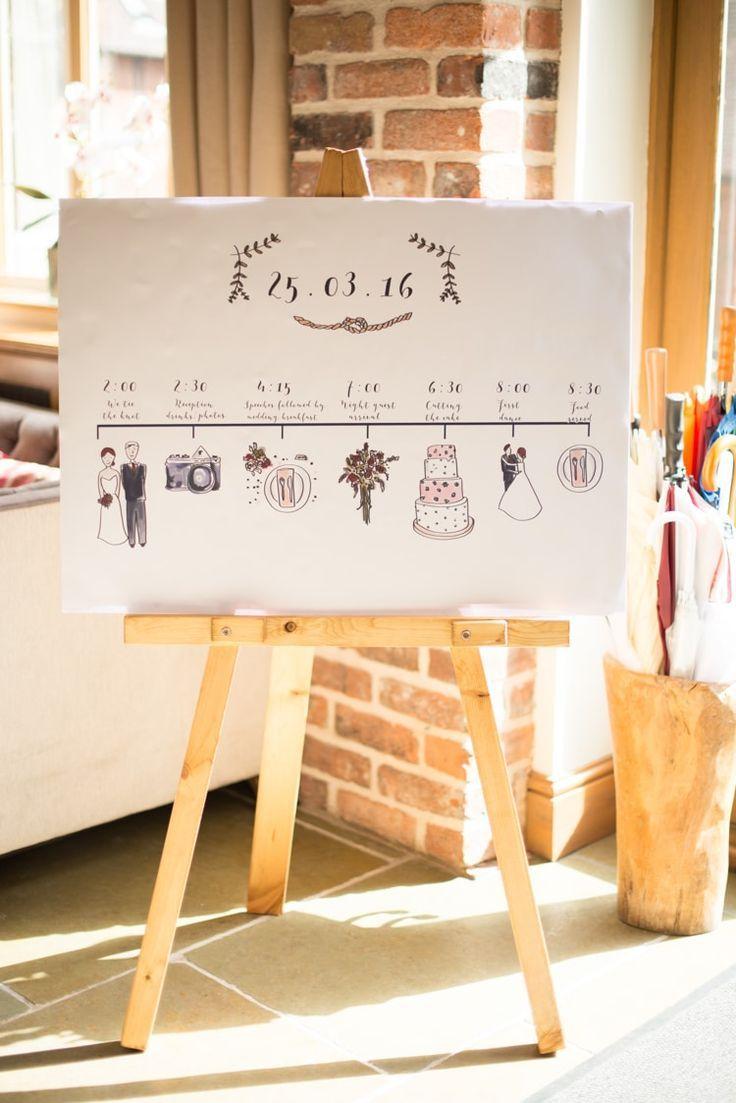 Order Of Service Tag Zeichen Grafiken Kupfer Dusky Lila grau rustikale Scheune Hochzeit