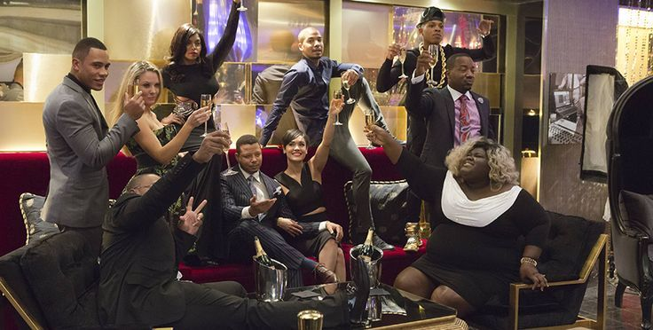 "Fox Network TV series cast members of ""Empire,"" have a toast to the show."