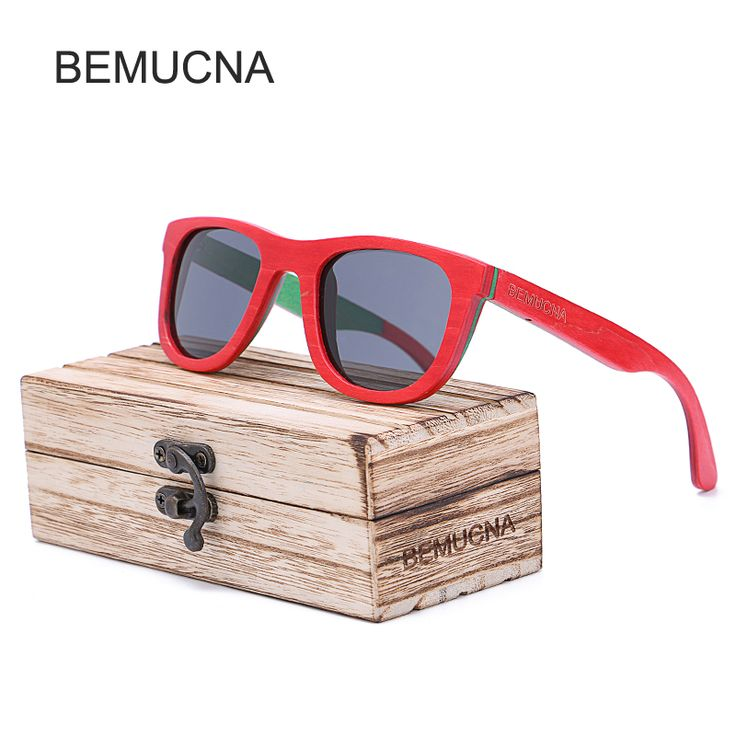 ==> [Free Shipping] Buy Best 2017 New BEMUCNA Wood Sunglasses Men Polarized Fashion Eyes Protect UV400 Black Square Sun Glasses women With Box gafas de sol Online with LOWEST Price | 32815245925