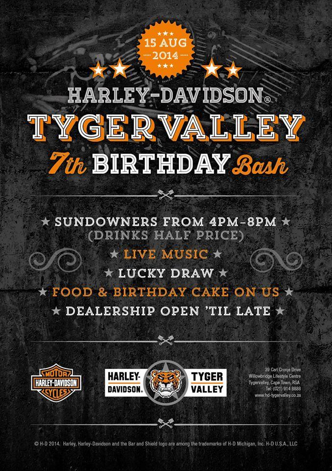 Harley Davidson Birthday Bash