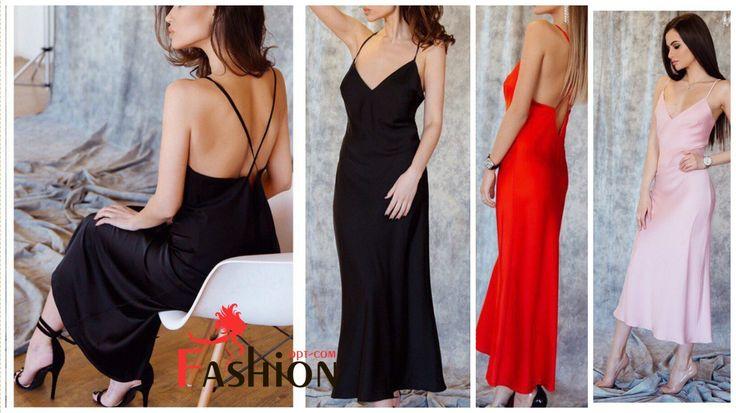 Платье-ночнушка из шёлка Арт.123 Размеры: S, M. Цвета: розовый, чёрный, красный. Материал: шёлк Armani.