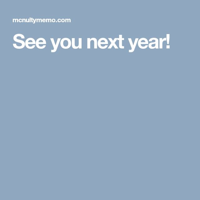 See you next year!