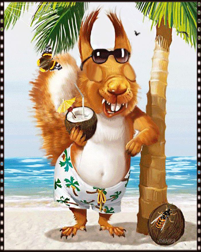 lustiges Bild 'Einen super Urlaub.gif' von Trudi. Eine von 14329 Dateien in der Kategorie 'witzige Bilder' auf FUNPOT.