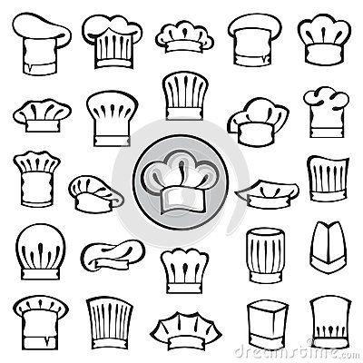 Chef Hats Set Royalty Free Stock Photos - Image: 34976728