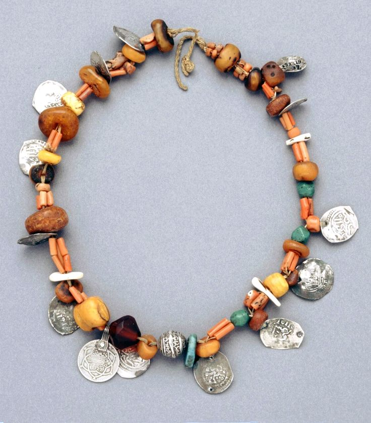 Morocco   Necklace; silver, coral, amber, metal   African Museum (Belgium) Collection; acquired 1992