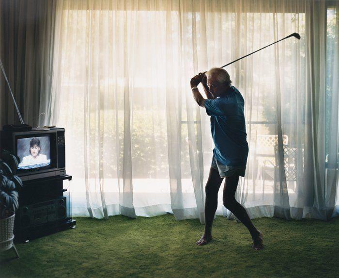 "Larry Sultan, ""Practicing Golf Swing"" (1989)"