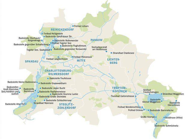 Berlin Potsdam Karte.Badestellen Karte Hier Können Sie In Berlin Schwimmen Gehen Life