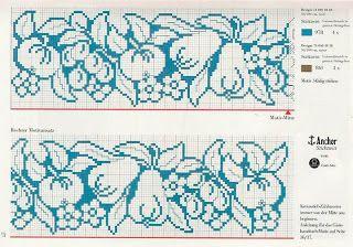 Angel's Gráficos de Crochê e Ponto Cruz: Gráficos de frutas em ponto cruz