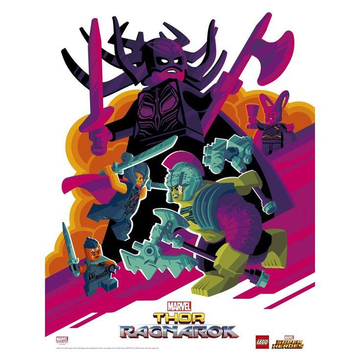 SDCC 2017 Lego Booth Exclusive Poster - Thor Ragnarok Movie  #conventionexclusive #hulk #lego #marvel #thor
