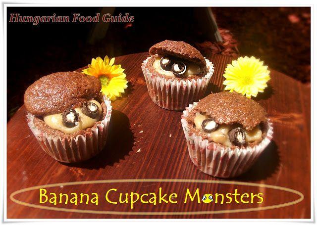 Banana Cupcake Monsters