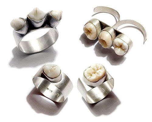 Rings with teeth.