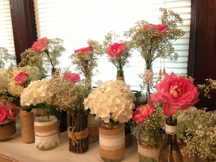 Rustic cennterpieces centerpieces diy for the