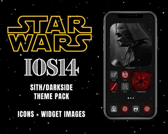Sith Dark Side Darth Vader App Icons Ios 14 Covers Etsy App Icon Icon Star Wars Sith Dark Side