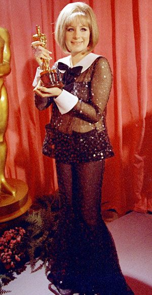 Outrageous Oscars Looks - Barbra Streisand, 1969 from #InStyle
