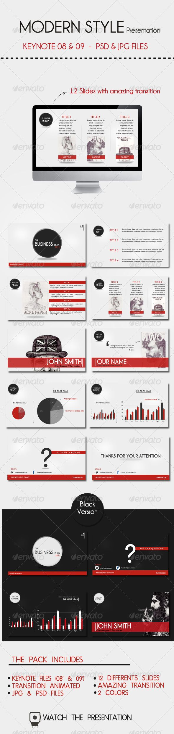 124 best keynote themes templates images on pinterest modern style presentation keynote theme template business presentationpresentation designpresentation cheaphphosting Image collections