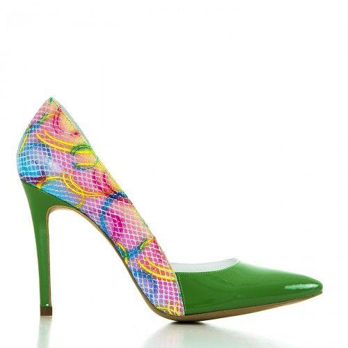 #CONDUR by alexandru #Shoes #2015 #Spring #Summer @1400 Lac verde cu multicolor