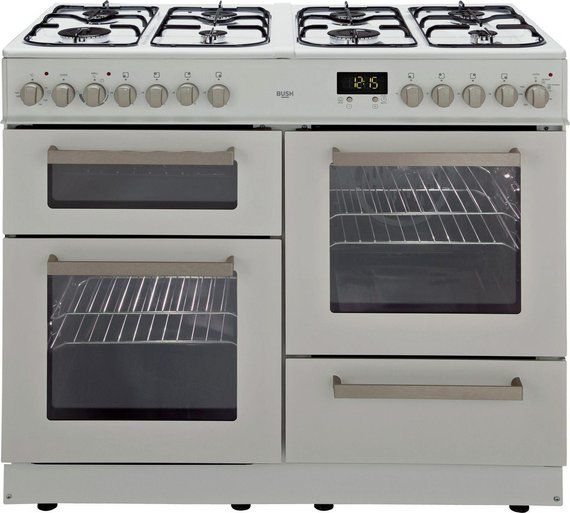 Buy Bush BCY100DFW Dual Fuel Range Cooker- White on sale at £499