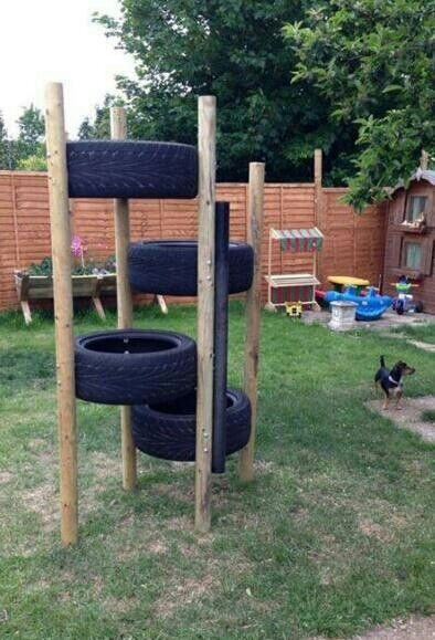 Tyre Climbing Frame For The Home Pinterest Boys