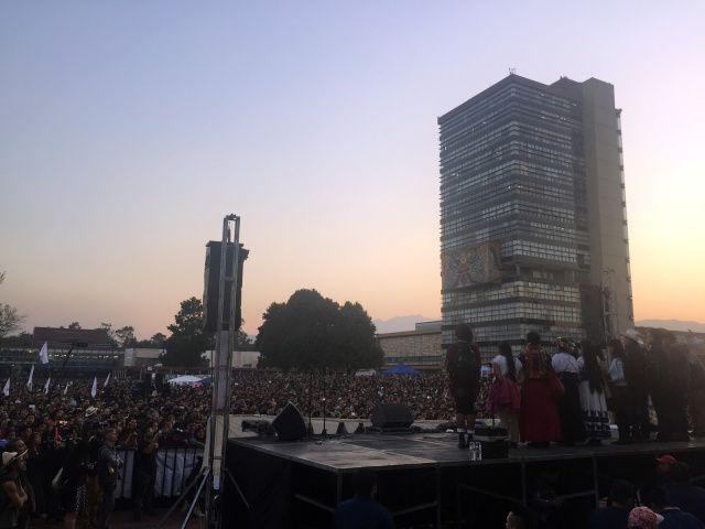 Discurso de María de Jesús Patricio Martínez, vocera del CIG, en Ciudad Universitaria.