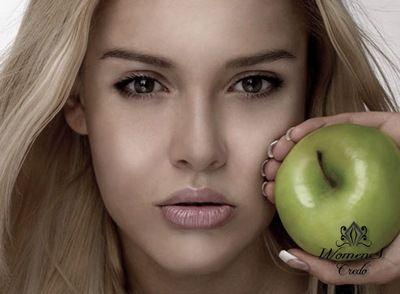 Для жирной кожи маска из зеленого яблока | Женское кредо