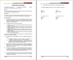non disclosure agreement template at freeagreementtemplates.com