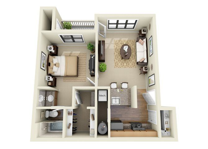 The Bentley 1 Bedroom 1 Bathroom Floor Plan Bathroom Floor Plans Bedroom Floor Plans 3 Bedroom Floor Plan