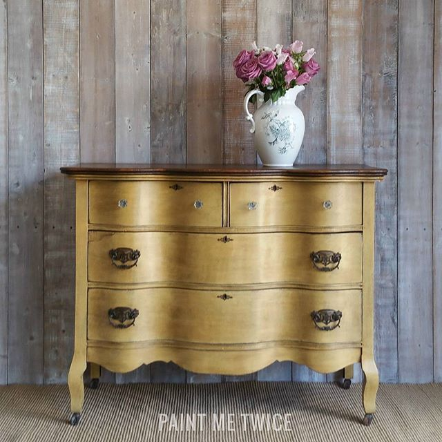 Paint Me Twice is kickin' off the fall season with a dresser painted with Arles Chalk Paint®, finished with Clear and Dark Wax!