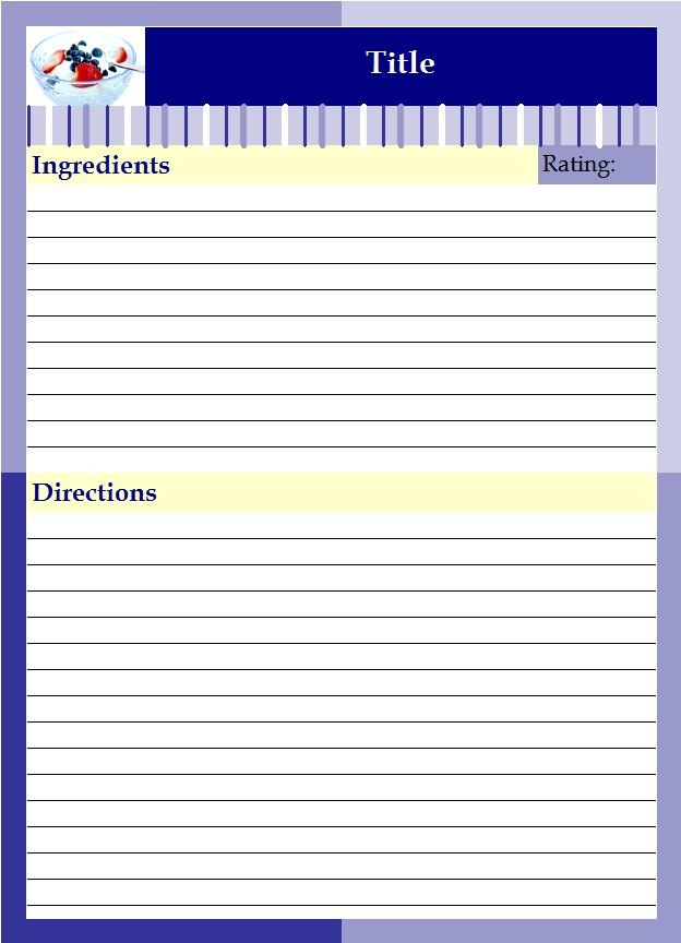 binder size recipe template